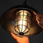 NIUYAO Lampe Suspension Lustre Abat-jour en Métal avec Grills Loft Style Chandelier Industriel Vintage Pendentif Lumière-Noir de la marque NIUYAO image 3 produit