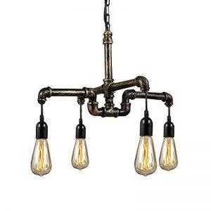 NIUYAO Suspension Lustre Style Tuyau en Métal Industriel Vintage Chandelier Hanging Light Réglable 4 Lampe de la marque NIUYAO image 0 produit