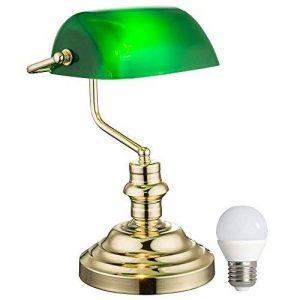 Nostalgie rétro table banquiers la lampe verte du jeu y compris les ampoules LED de la marque etc-shop image 0 produit