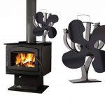 Nouveau conçu pour 4lames chaleur Alimenté Poêle ventilateur pour bois/bûches Brûleur/cheminée–Respectueux de l'environnement de la marque VODA image 3 produit