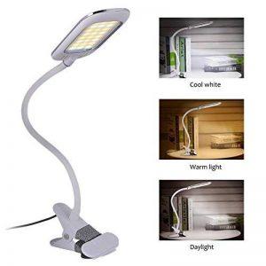 [Nouvelle Version] LED Lampe de Lecture, Eyoo Led Lampe Rechargeable et Flexible, 3 modes de couleurs 11 Mode de Luminosité, avec Câble USB pour Charger, Lampe de Chevet, Lumière Clip de la marque Eyoo image 0 produit