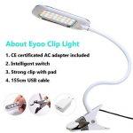[Nouvelle Version] LED Lampe de Lecture, Eyoo Led Lampe Rechargeable et Flexible, 3 modes de couleurs 11 Mode de Luminosité, avec Câble USB pour Charger, Lampe de Chevet, Lumière Clip de la marque Eyoo image 3 produit