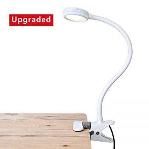 [Nouvelle Version] LED Lampe de Lecture, Eyoo Led Lampe Rechargeable et Flexible, 3 modes de couleurs 9 Mode de Luminosité, avec Câble USB pour Charger, Lampe de Chevet, Lumière Clip de la marque Eyoo image 0 produit