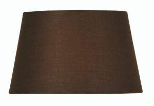 Oaks Lighting Abat-jour tambour en coton Chocolat 40 cm de la marque Oaks Lighting image 0 produit