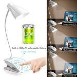 OCOOPA Clip LED Lampe de Chevet à Pince, 3 niveaux de luminosités, Lampe de Table tactile, lampe de bureau pour lecture, Blanche de la marque OCOOPA image 3 produit