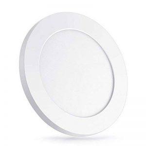 Oeegoo 6W Plafonnier LED Rond Lampes de Plafond 420 Lumens – Remplace 50W Ampoule à Incandescence RA>80 Blanc Naturel (4000-5000K) Φ11.3*H1.3CM de la marque Oeegoo image 0 produit