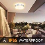 Onforu 32W Plafonnier LED, IP65 Etanche, 2800LM, 2700K Blanc Chaud, Plafonnier Rond Ø32,5CM avec Contour en Aluminium, IRC 90+, Lampe de Plafond pour Chambre, Grand Salon, Couloir etc de la marque Onforu image 3 produit