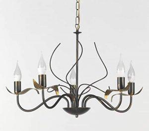 onli Bugia Lustre 5lampes e14, marron/or, 60cm x H 100cm de la marque ONLI image 0 produit