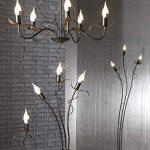 onli Bugia Lustre 5lampes e14, marron/or, 60cm x H 100cm de la marque ONLI image 3 produit