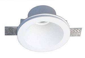 Onlineplaster 806CH Spot de Plafond à encastrer Rond, Plâtre, GU10, Blanc Naturel, 13, 1 x 7 cm de la marque Onlineplaster image 0 produit