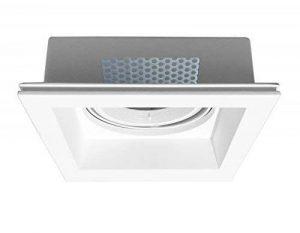 Onlineplaster 806ELED27 Spot de Plafond à encastrer carré, Plâtre, 13 W, Blanc Naturel, 21 x 6, 7 cm de la marque Onlineplaster image 0 produit