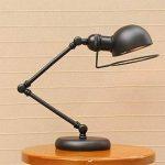 OOFAY LIGHT Lampe De Bureau LED avec Bras Pliable De Style Rétro De pour La Lampe De Table De Salon D'étude De Chambre À Coucher De Cru de la marque OOFAY LIGHT image 2 produit
