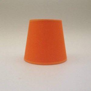 Orange Petite bougie à clipser Abat-jour Lustre Plafonnier Applique murale Abat-jour fait main Tissu de coton de la marque ArG Lighting image 0 produit