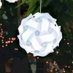 Original DIY Abat-jour Puzzle Festival Kit Abat-jour pour Plafond Lampe Suspendue Décoration, 30pcs, Blanc, 30 cm de la marque AZX image 4 produit