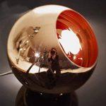 Originale Vintage Lampe Suspension Lustre Plafond Boule Abat-jour en verre plaqué Cuivre Poli Miroir Diamètre 15cm, sans ampoule ( Bronzé) de la marque AZX image 2 produit