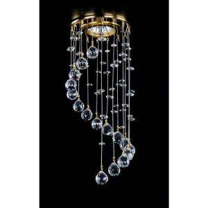 """orné de cristaux Lustre plafonnier - Plafonnier - Spots - 1 Ampoule, Lampe plafonnier en cristal- design élégant - collection""""KARLA"""" - chaque pièce est unique (CRISTALICA LIGHTING) de la marque CRISTALICA image 0 produit"""
