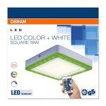 OSRAM - Applique / Plafonnier LED Color - Forme Carrée - 20x20cm - Couleurs RGBW - 780 lm - Télécommande fournie de la marque Osram image 2 produit