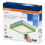 OSRAM - Applique / Plafonnier LED Color - Forme Carrée - 20x20cm - Couleurs RGBW - 780 lm - Télécommande fournie de la marque Osram image 3 produit