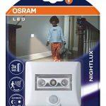 OSRAM Eclairage LED avec détecteur de mouvement Nightlux Eclairage de nuit LED / capteur de luminosité / pivotant fonctionnement à pile lumière du jour — 7000K Blanc de la marque Osram image 1 produit
