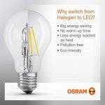 OSRAM LED BASE CLASSIC A / Lampe LED, ampoule de forme classique, avec un style filament, avec un culot à vis: E27, 7 W, 220…240 V, 60 W remplacement, clair, 2700 K, 2pack de la marque Osram image 4 produit