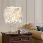 OULII Lampe de table avec UE-fiche lecture de chevet salle salon cœur forme plume Crystal, cadeau de Noël de la marque OULII image 1 produit