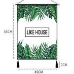 Outflower Vibrant Tropical Rainforest Plant Tapisserie Décoratif Mandala Mural Tapis Dream Bohemian Tenture Mur Décor À La Maison Taille 45 * 65CM de la marque Outflower image 1 produit