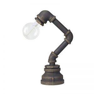 OYGROUP Edison Industrial Retro Lampe de bureau Lampe de table en fer à pipe en eau Steampunk Craftsmanship Eclairage intérieur E27 de la marque OYGROUP image 0 produit