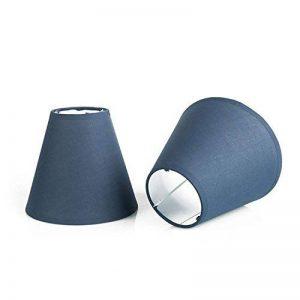 OYGROUP Lampe de remplacement de couleur unie Simple Ombre de mode Créative Simple Lampe de table ombre (paquet de 2) 8x14x16cm bleu foncé de la marque OYGROUP image 0 produit