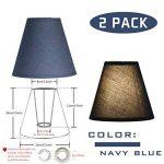 OYGROUP Lampe de remplacement de couleur unie Simple Ombre de mode Créative Simple Lampe de table ombre (paquet de 2) 8x14x16cm bleu foncé de la marque OYGROUP image 1 produit