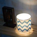 OYGROUP Mignon Bleu Cylindrique Coton Lin Abat-Jour E14 Ampoule Base Decoraion pour Lampe de Table Éclairage de Bureau Lampadaire abat-jour lampe de chevet de la marque OYGROUP image 1 produit