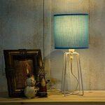 OYGROUP Mignon Bleu Cylindrique Coton Lin Abat-Jour E14 Ampoule Base Decoraion pour Lampe de Table Éclairage de Bureau Lampadaire abat-jour lampe de chevet de la marque OYGROUP image 3 produit