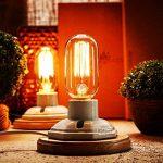 OYGROUP Vintage White Ceramics Lampes de table en bois avec interrupteur Dimmable E27 Base (Pas d'ampoule) Lampe de bureau Industrial Dimmable Décor pour la chambre pour salle de séjour Bar Hôtel lampe de table ceramique lampe de bureau retro de la marque image 2 produit