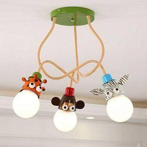 Ozigwpa3- Lampe de Plafond de Bande Dessinée Lampe de Chambre des Enfants Simple Lampe de Plafond Chambre Moderne Creative Personnalité Trois Ampoules Princesse Chambre Lampe de la marque Ozigwpa3 image 0 produit