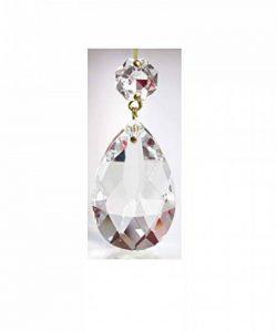 pampille taillée en cristal 50mm avec octogon pour lustres - décoration de la marque cristal pour lustre image 0 produit