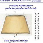 Paolo Rossi - Abat-jour conique imitation Vieux parchemin avec finition or - Production propre (fabriqué en Italie) diamètre cm 40 de la marque Paolo Rossi image 1 produit