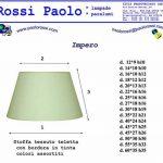 Paolo Rossi - Abat-jour conique imitation Vieux parchemin avec finition or - Production propre (fabriqué en Italie) diamètre cm 40 de la marque Paolo Rossi image 2 produit