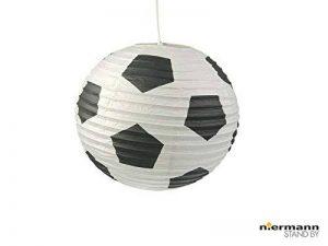Papier Lampe pour chambre d'enfant–Abat-jour avec motif football–Suspension avec suspension de la marque Niermann image 0 produit