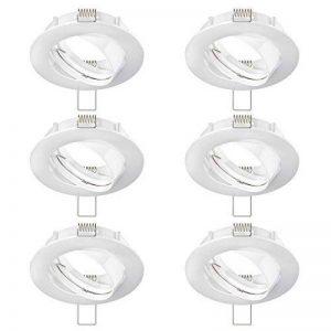 Parlat Cadre de Montage encastré Circ Aluminium Cadre de Montage encastré Blanche pivotant (LED/Halogen/GU10/MR16/PAR16/50mm), 6 pcs de la marque Parlat image 0 produit