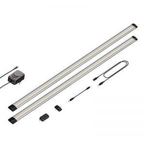 Parlat LED luminaire sous Meuble Siris, variateur tactil, Plat, par 90cm, 800lm, Blanche-Chaude, Lot de 2 de la marque Parlat image 0 produit