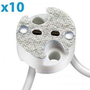 Parlat Universal-douille en Keramik pour G4, G5.3, GY6 Niedervolt Sockel 12V max. 25W, 10 pcs de la marque Parlat image 0 produit