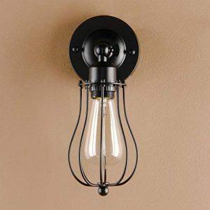 Pathson Métal Réglable Rétro Applique Lampe Murale industriel Vintage Lampe E27 avec Abat-jour en Forme de cage de Pamplemousse(pas d'ampoule) de la marque Pathson image 0 produit
