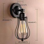 Pathson Métal Réglable Rétro Applique Lampe Murale industriel Vintage Lampe E27 avec Abat-jour en Forme de cage de Pamplemousse(pas d'ampoule) de la marque Pathson image 1 produit