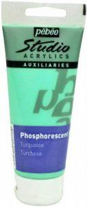 Pébéo Peinture Gel Phosphorescent Studio, Tube de 100 ml Couleur Turquoise de la marque Pébéo image 0 produit