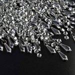 Pendentif 3 niveaux WanEway, abat-jour chandelier de plafond avec gouttelettes bijoux en acrylique, abat-jour en billes avec contour de chrome et billes étincelantes, diamètre 22 cm, chrome de la marque WanEway image 4 produit