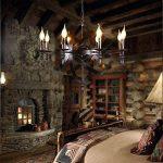 Pendentif Médiéval rond chandelier à bougie Pendentif Plafonnier Noir style château en fer forgé massif pour un couloir de salon ou un lustre de maison de campagne, diamètre 70cm, hauteur totale 100cm WSHceilinglamp de la marque WSHceilinglamp image 1 produit