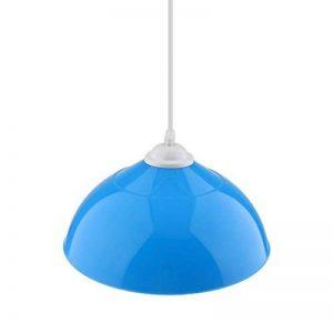 perfeclan Plafonnier Semi-circulaire Abat-jour de Chambre Lustre de Salon - Bleu de la marque perfeclan image 0 produit