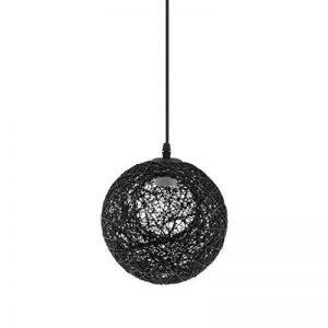 perfk Abat-Jour Plafond Lustre Suspension Décoration Maison Magasin 20cm - Noir avec Trou de la marque perfk image 0 produit