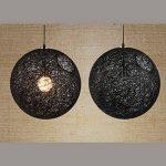 perfk Abat-Jour Plafond Lustre Suspension Décoration Maison Magasin 20cm - Noir avec Trou de la marque perfk image 4 produit