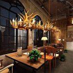 Personnalité Créativité Luxe Plafond Lampe Retro Résine Cerf Bois Lustres Faux E14 * 4 Chambre Restaurant Bar Café Andouiller Suspension Lampe de la marque OOFAY LIGHT image 1 produit