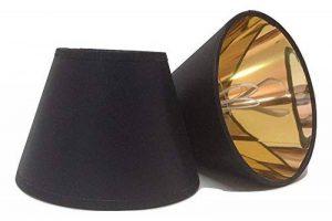 Petit abat-jour noir en tissu avec pince à bougie avec doublure dorée fait à la main lampe murale et plafond abat-jour lustre moderne abat-jour de la marque ArG Lighting image 0 produit